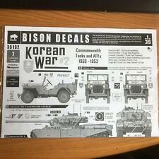 Bison Decals 1/35. Korean War 2, Commonwealth Tanks and AFV. No 35132.