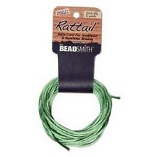 6 Yards 1MM RATTAIL APPLE GREEN (Free Shipping)