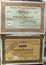 10 different German bonds & stock certificates