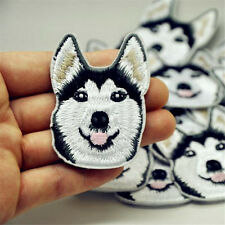 1PC Cute Husky Dog Embroidery Sew Iron On Patch Badge Clothes Applique Accessory
