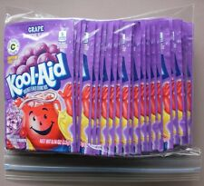25 packets of KOOL-AID drink mix: GRAPE flavored UNSWEETENED caffeine free