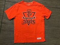 Mitchell Ness Mens Large San Francisco Giants Tee T Shirt Orange