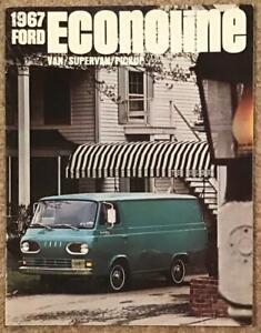 FORD ECONOLINE USA Sales Brochure 1967 VAN Supervan PICKUP