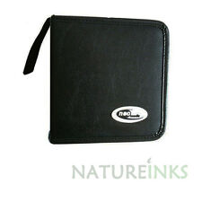 Brand New Neo 48 Leather CD DVD storage wallet strong zip fastening retail pack
