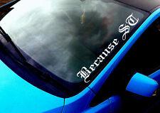 Because ST (02) ANY COLOUR Windscreen Sticker Focus Fiesta Sport Car Vinyl Decal