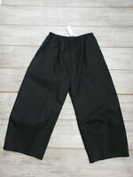 NWT $250 Harriet's San Francisco Black Elastic Waist One Size Pants w/ Pockets