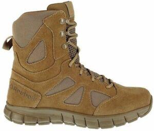 "Reebok RB8808 Men's Sublite Cushion 8"" Coyote Tactical Boots Shoes Sz 12W US"