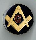 Vintage Enamel Pin 70's 80's Masonic Free Mason Lapel Jacket vest