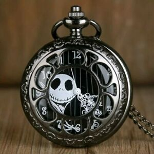 Steampunk Tim Buttons Nightmare before Christmas Pocket Watch-New