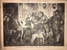 Gravure Ancienne 19eme Historique Franz Defregger Empereur Autriche