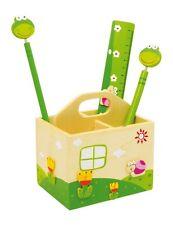 Portapenne Box in Legno, con Righello, Penna e Matita, per Bambini