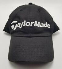 TaylorMade Hat Cap Golf Black Adjustable Strapback Mens Used Bl2