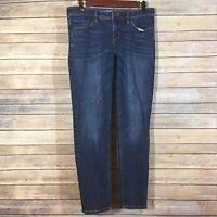 Isaac Mizrahi Jeans Women's Size 8 Dark Wash Blue Denim Skinny