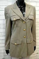 Cappotto in Lana ESCADA Donna Taglia 38 Giacca Lunga Blazer Slim Jacket Woman