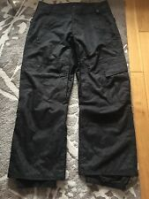 Vans Men's Ski Trousers, XL/TG, Black, Used Excellent Condition
