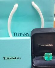 Tiffany & Co 18K YELLOW GOLD  RING Natural green Colombia emerald 12.07ct.