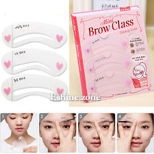 3Style Mini Eye Brow Class Guide Grooming Shaping Assistant Eyebrow Drawing Card