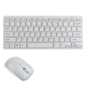 KIT TASTIERA E MOUSE MINI WIFI WIRELESS PER PC 2.4GHz KEYBOARD USB SENZA FILI ds