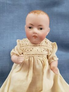 Darling 5 Inch Antique All Bisque Baby Doll
