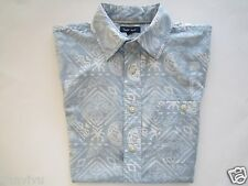 Croft&Barrow Art prints Short Sleeve Men's Woven Shirt Blue S MSRP $40