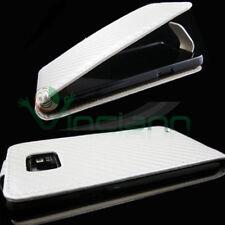 Pellicola+Custodia CARBON Bianca per Samsung i9100 Galaxy S2 SII foderino