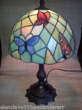 LAMPARA SOBREMESA Tiffany Replica Calidad Mariposas Siglo XX Tulipa Opal Copia