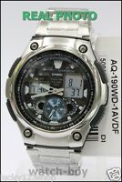 AQ-190WD-1A Casio Analog Digital Men's 100M Watch World time Stainless Brand New