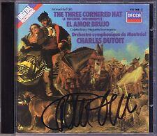 Charles DUTOIT Signiert FALLA Three Cornered Hat El Amor Brujo CD Colette Boky