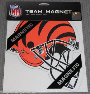 NFL Cincinnati Bengals 8 inch Auto Magnet Helmet Shaped by Fremont Die