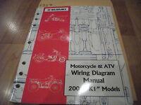 Suzuki Service Manual Motorcycle Atv Wiring Diagram 2004 K4 Models Like New Ebay