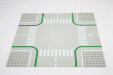 Lego® 2361 Straßenplatte Platte 32 x 32 Kreuzung grau mit Fahrradweg road plate