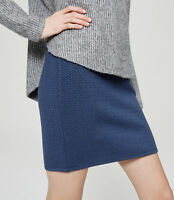 LOFT - Women's XXS - NWT - Blue Textured Jacquard Knit Pull-on Mini Skirt