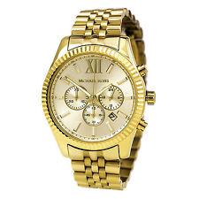 NEW Michael Kors MK8281 Lexington Chronograph Gold Tone Men's Wrist Watch