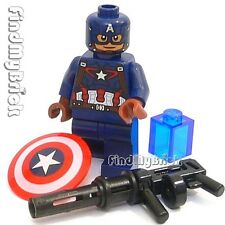 BM052 Lego Captain America Minifigure Shield Gun Tesseract Cube 76051 76032 NEW