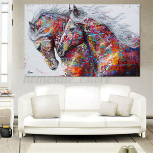 Running Horse Canvas Print Art Painting Wall Unframed Picture Poster Home Decor