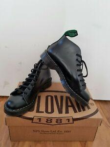NPS SOLOVAIR Black Shiny Leather 7 Eye Monkey Boot Size 6