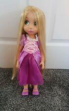 "Disney Store Doll Rapunzel Animator Tangled 16"" Toddler Doll Princess deluxe edi"