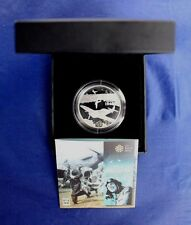 "2010 Alderney Silver Proof £5 Crown coin ""D-Day"" in Case with COA   (AR1/45)"