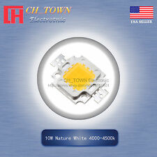 1Pcs 10W Watt High Power Nature White 4000-4500k SMD LED Chip Blub Beads Lamp