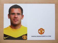 2009-10 Ben Foster sin firmar Man Utd Official Club tarjeta (9787)