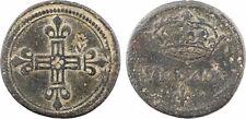Louis XIV, poids monétaire du 1/4 d'écu en argent, frappe marteau - 17