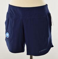 """BROOKS Womens Navy CHASER 7"""" Running Shorts Moisture Wicking MEDIUM NWT"""