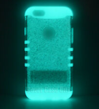 Clear Glitter w/ Glow in Dark Silicone Impact Cover Case for Apple iPhone 6 4.7""