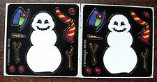 NEW SMILEMAKER BUILD A SNOWMAN WINTER SNOW SCRAPBOOKING CRAFT CARD STICKERS SET!