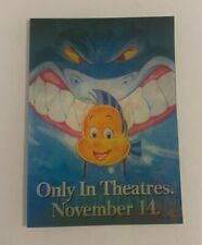 """Vintage Disney """"The Little Mermaid"""" Movie Holigraphic Promotional Card 1989 Rare"""