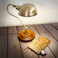 Lampe Tischlampe Steampunk Leselampe Industrielook verstellbar Massivholz Eisen