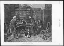 1886 Fine Art Impression antique-au notaire de ARANDA Hommes étagères bureau (209)