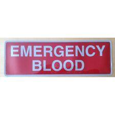 Insignia 300mm encapsulados Reflectante Emergencia diapositiva posterior de sangre en estilo