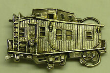 Vtg 1979 Great American Belt Buckle Co Train RR Railroad Wood Caboose LE Ltd B