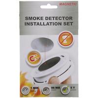 2 Kit de montage détecteur de fumée magnétique neuf